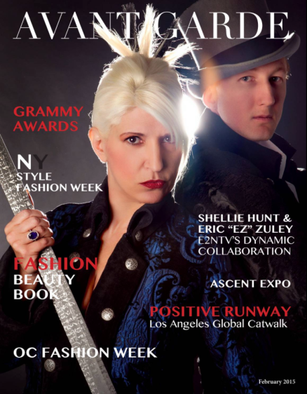 Eric Zuley, Shellie Hunt Avant Garde Magazine Cover