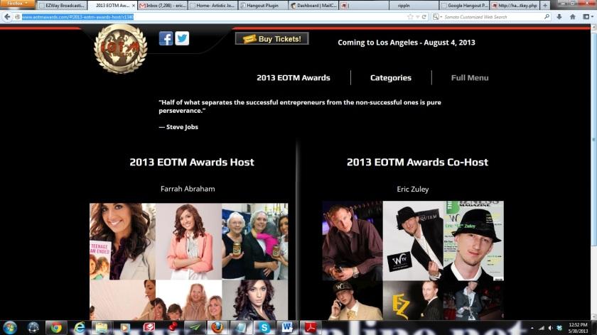 Eric Co-hosting EOTM Awards